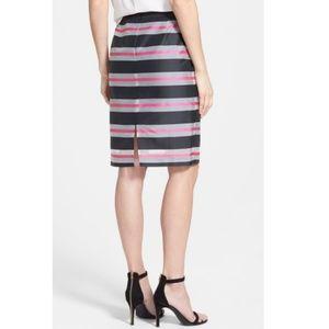 Halogen Skirts - Halogen Organze Stripe Pencil Skirt